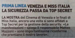 TopSecret a Miss Italia e Biennale di Venezia